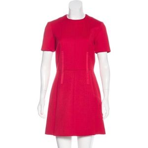 GORGEOUS CARVEN RED WOOL MINI DRESS NWT